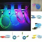 BLACK LED Light up USB Data Charger Cable Charging Cord for Android Cell Phone