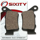 Rear Organic Brake Pads 2004 ATK 700 Intimidator Set Full Kit 2T Complete xi