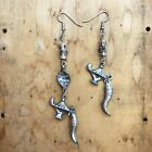 Handmade Funky Silver Earrings Vintage Charm Jewelry Eco Friendly Gifts