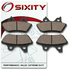 Front + Rear Ceramic Brake Pads 2007 Harley Davidson FXSTD Softail Deuce Set in