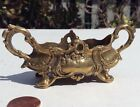 RARE BEAUTIFUL BRASS ORNATE ART NOUVEAU SALT CELLAR