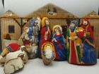 Christmas Nativity Set Cradle Hymn Baby Handmade Plush Pillow 9 pc Vintage A4