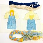 Hand Painted Needlepoint Kit Christmas Tree Topper Angel Nativity 2 Canvas Yarn