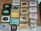 MIXED MULTIPLE BRANDS Pigment  Dye Ink Stamp Pads Re Inkers pre owned