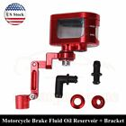 Front Brake Fluid Oil Reservoir Tank Cup Clutch Master Cylinder Bracket Universa