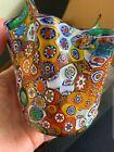 Fine Millefiori Large Art Glass Vase attributed to Fratelli Toso 5 inch MINT