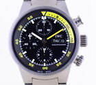 IWC Aquatimer Chronograph Automatic titan Diver Titanband rar black yellow