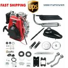 Red 49CC 4Stroke Gas Petrol Motorized Bike Bicycle Engine Motor Kit Scooter NEW