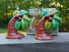 Clay Art Collectible Salt  Pepper Shakers Palm Beach Trees