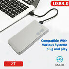 2TB USB30 Portable External Hard Drive HDD HD Disk Storage Devices For Laptop
