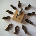 Glue on bails 500 small bronze leaf 16x6 mm for DIY small jewelry pendant