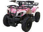 Kids Pink Four Wheeler Outdoor Ride On 24V Electric Battery Mini ATV Quad Sonora