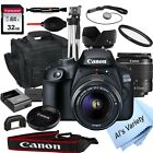 Canon EOS 2000D Rebel T7 241MP DSLR Camera + 18 55mm Lens 18PC Bundle