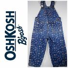 OshKosh Bgosh Vintage Style Girls Floral Butterfly Jean Overall Size 24 months