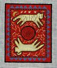 New Hand Painted Needlepoint canvas Primitive Native Mola