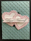 Stampin Up retired SCALLOPED HEART stamp DIE  LATTICE CUT Embossing folder