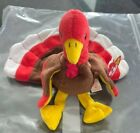 Ty Beanie Baby GOBBLES Double Layer Waddle Under Chin FACE/TAG ERRORS PVC Pellet