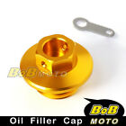 CNC Engine Gold Oil Filler Cap For HONDA CRM250R/AR 1989-1998 90 91 92 93 94