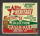 2015 Topps Heritage '51 Collection Baseball Sealed Hobby Box Set 1 Auto Per Box