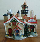Lemax RARE Northern Lights Weather Center Lighted Building Santa's Village 15579