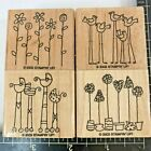 Stampin Up Stamps Simple Somethings Baby Birds Flowers Plants Mounted 4 Set 2003