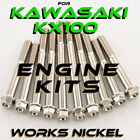 ENGINE Bolt Kit for Kawasaki KX100 | Bolts & Nuts w/the nickel plating you want!