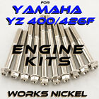 ENGINE Bolt Kit for Yamaha YZ426F | Beautiful Works Nickel Plating, SAVE $$$