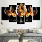 Pouring Wine into Glass 5 Pcs Canvas Wall Art Print Picture Poster Home Decor