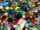 NEW 16 oz MULTI COLOR Glass ONLY 6 12mm MIXED LOOSE BEADS LOT