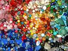 NEW 6 oz Multi colored MIXED LOOSE BEADS LOT Gemstone Glass NO JUNK sl7