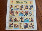 USPS Atlanta 1996 Centennial Olympic Games sheet 32 cent stamps