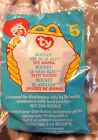 Ty Teenie Beanie Baby Rocket the Blue Jay 1999 #5 McDonald's Meal Toy Retired