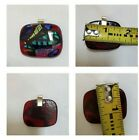Gorgeous Foil andFused Glass Pendant Statement Piece