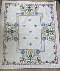 German Linen Embroidered Tablecloth With Deers