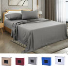 4 Piece Fitted Bed Sheet Set Egyptian Comfort 2200 Count Deep pocket Sheets