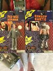 NECA Pee Wee's Playhouse Cowboy Curtis AND Peewee Lot! Poseable Figure 2006 Ed