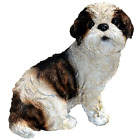 Shih Tzu Puppy Statue Small 55 x 9 x 8 Inch Tall Hand Made Polyresin Hand Paint