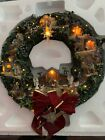 2006 THOMAS KINKADE Lighted NATIVITY Christmas WREATH Sculpture Hawthorne Villag