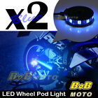 2x Blue 360 Degree Cycle Rim Wheel SMD LED Pod Light For Buell Motorcycles