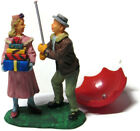 Lemax Christmas Village Figures Man Holding Umbrella for Woman (Broken)