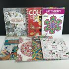 Lot of 7 Art Therapy Creativity Imagination Grown Up Adult Coloring Books