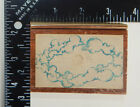Frame Made Of Cloud Shapes Rubber Stamp