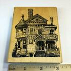 Old Victorian Home Haunted House by Rubber Stamps of America STAINED