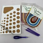 NEW Quilling Tool And Paper Bundle Incl Board Quilling Paper Strips Tweezers +
