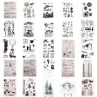 Clear Stamps Transparent Silicone Rubber Stamp Embossing Scrapbook Christmas DIY