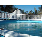 Pool Safety Fence Above Ground Base Kit A 8 Fence Sections Hardware Included New