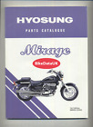 Hyosung GV125 Mirage Aquila (00-06) Parts List Catalogue Manual Book GV 125 CT44