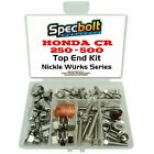 Honda CR500 Top End Engine Bolt Kit CR 500 500R CR500R (Nickel)