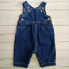 Baby Gap Vintage Blue Jean Denim Jumpsuit Jumper Size 3 6 Months
