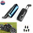 Motorcycle Rearview Side Mirrors For Harley Street Glide Touring Sportster Black